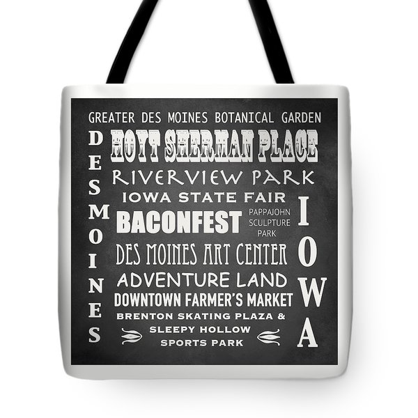 Iowa Famous Landmarks Tote Bag