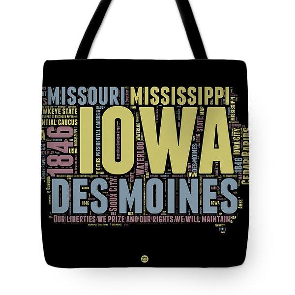 Iowa Word Cloud 1 Tote Bag