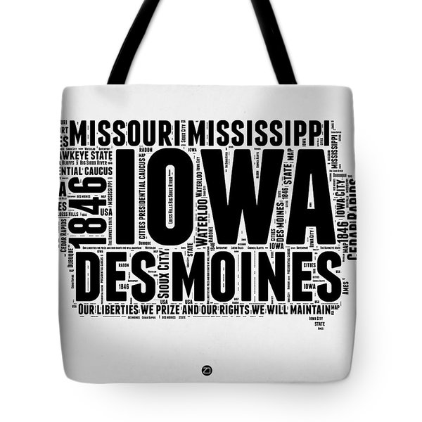 Iowa Word Cloud 2 Tote Bag