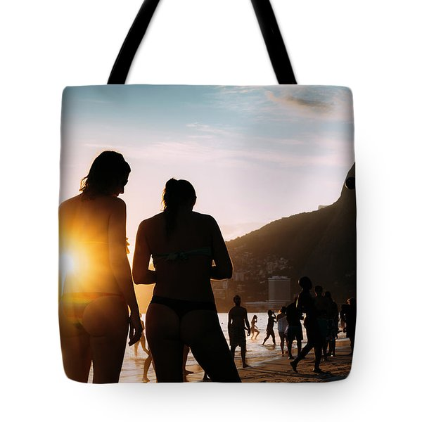 Ipanema, Rio De Janeiro, Brazil At Sunset Tote Bag