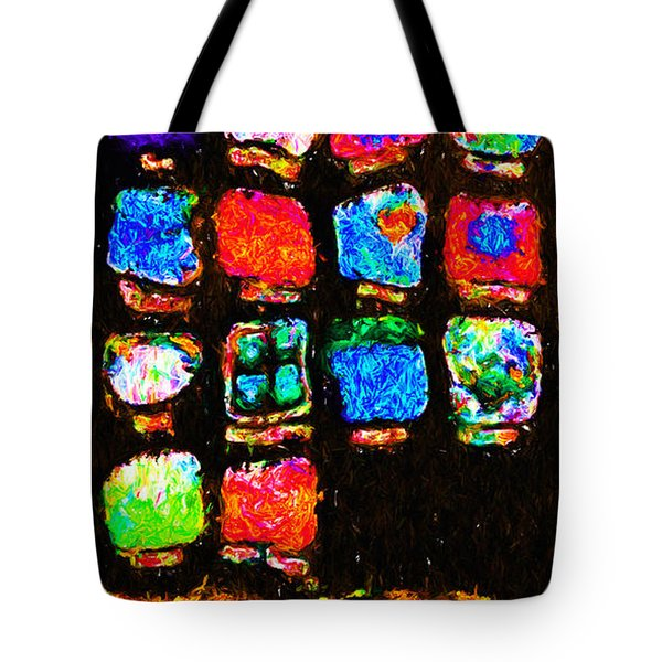 Iphone In Abstract Tote Bag