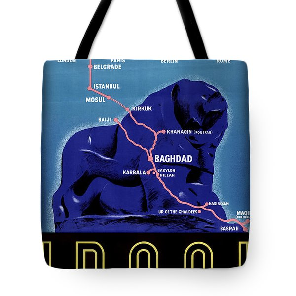 Iraq Vintage Travel Poster Restored Tote Bag