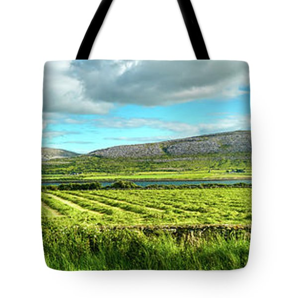 Ireland  - Burren Panorama Tote Bag