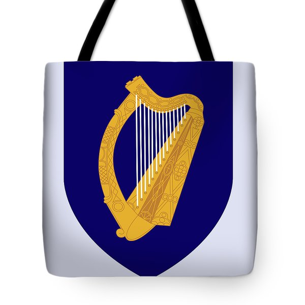 Tote Bag featuring the drawing Ireland Coat Of Arms by Movie Poster Prints