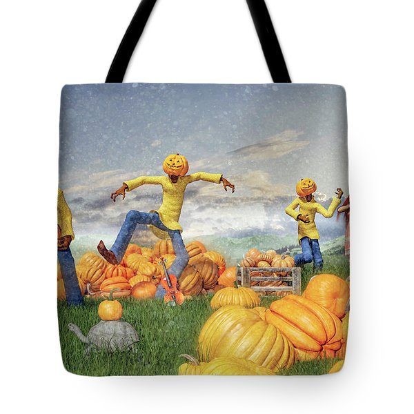 Ireland Jack Pumpkin Festival And Fiddle Fun Tote Bag