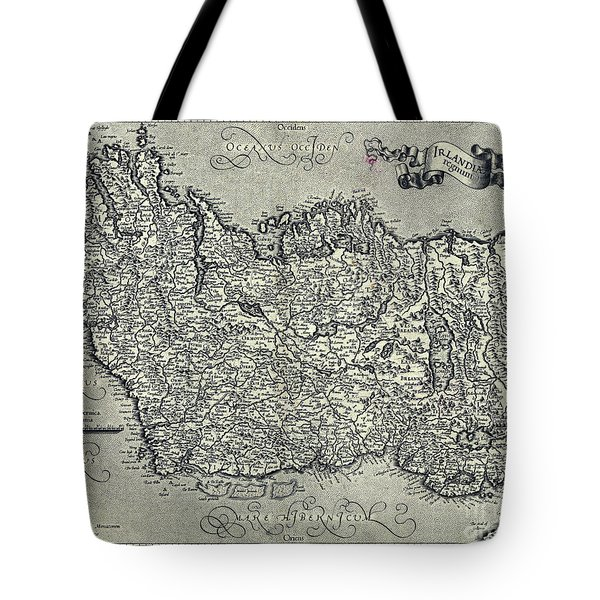 Ireland Map Ca 1635 Tote Bag
