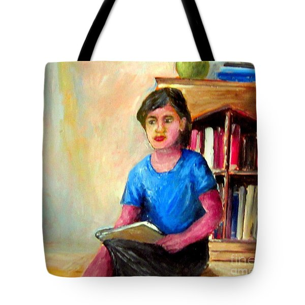 Tote Bag featuring the painting Irene by Jason Sentuf