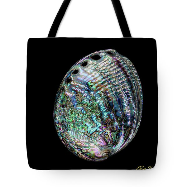 Tote Bag featuring the photograph Iridescence On The Half-shell by Rikk Flohr