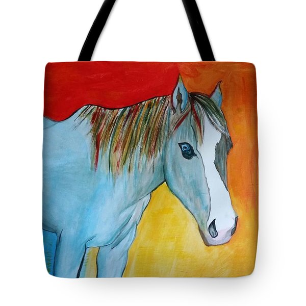 Iridescent Blue Tote Bag by Carol Duarte