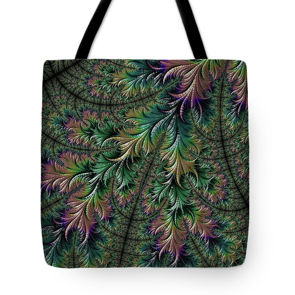 Iridescent Feathers Tote Bag