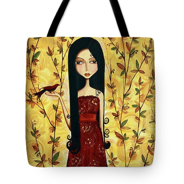 Iridescent Heart Tote Bag by Debbie Horton