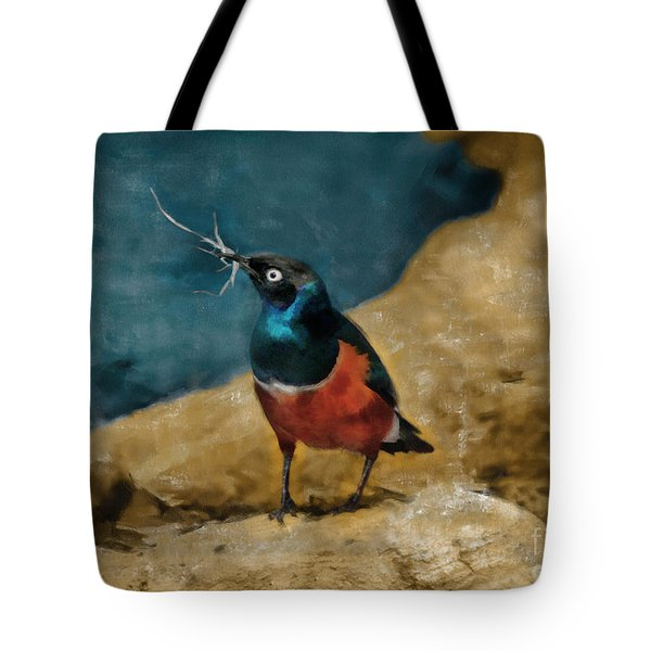 Iridescent Starling Tote Bag