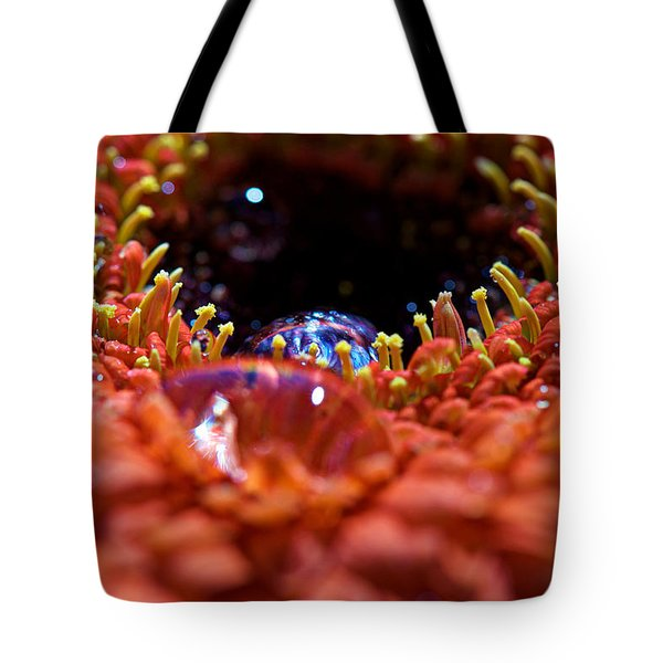 Iridescent Water Drops Tote Bag by Lisa Knechtel