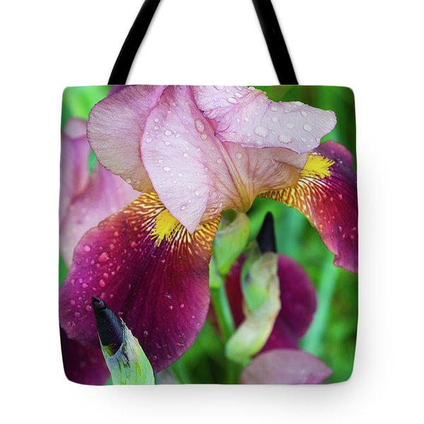 Iriis After Rain Tote Bag