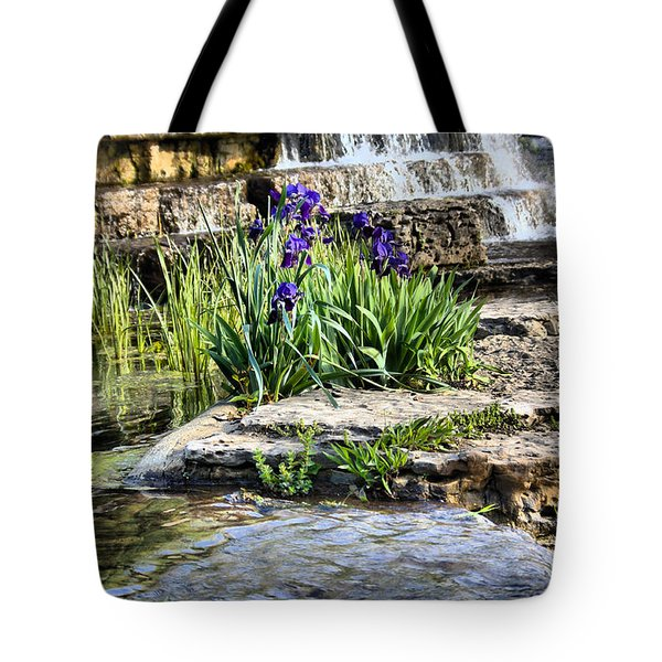 Tote Bag featuring the photograph  Iris 1315hdr by Brian Gryphon