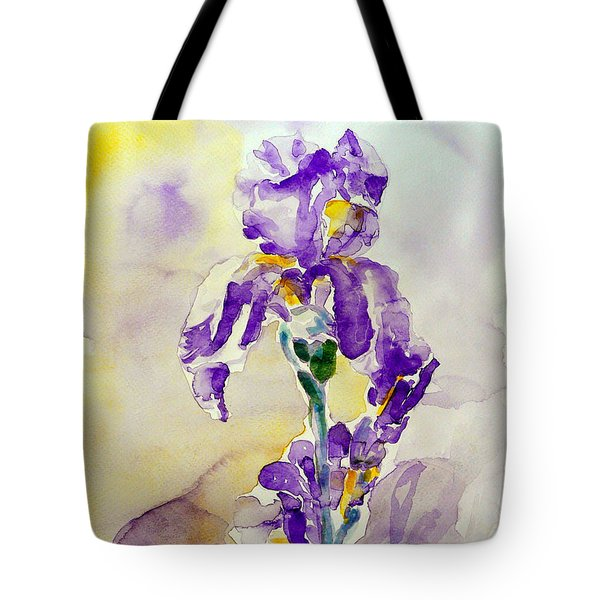 Tote Bag featuring the painting Iris 2 by Jasna Dragun
