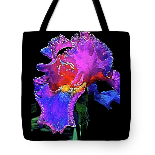 Tote Bag featuring the photograph Iris 3 by Pamela Cooper