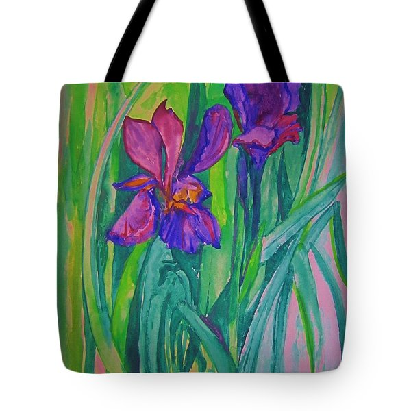 Iris Also Tote Bag by Cathy Long