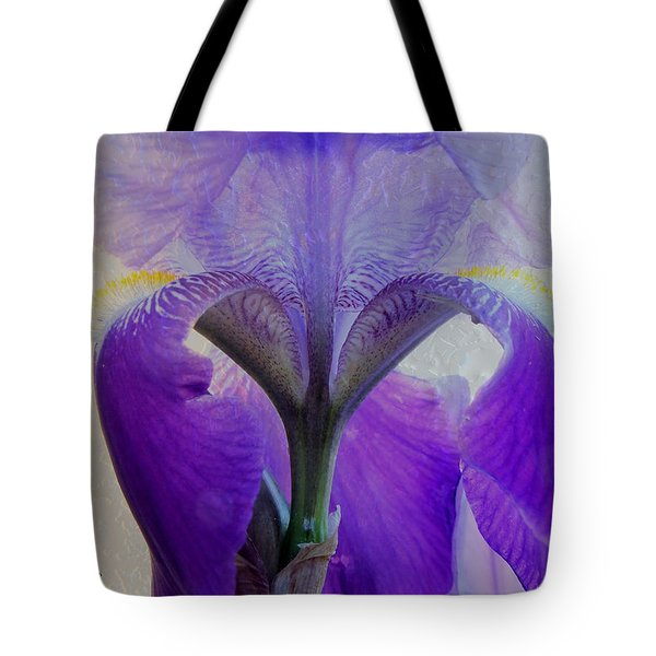 Iris And Ice Tote Bag