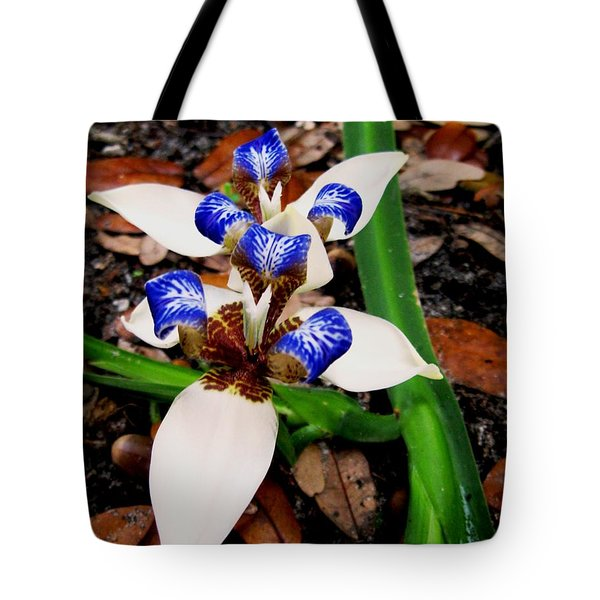 Iris Tote Bag by Angela Murray