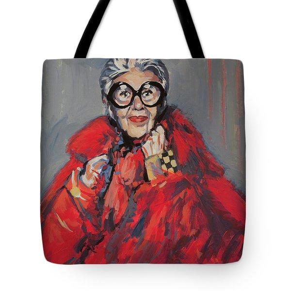 Iris Apfel Style Icon Tote Bag