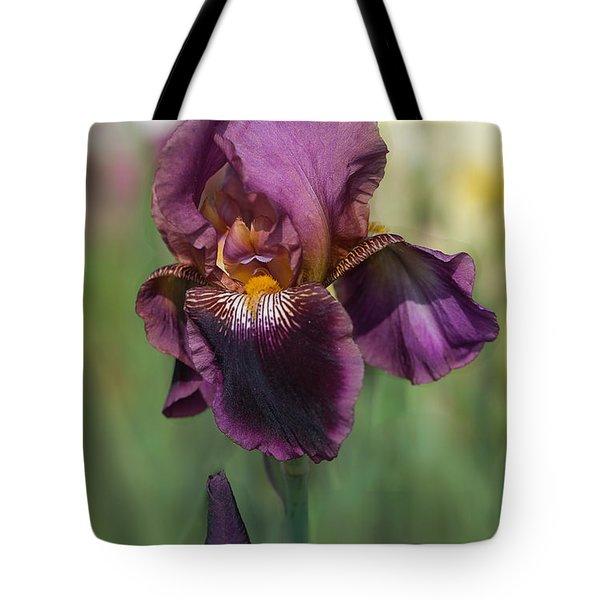 Iris 'black Ruby' Tote Bag