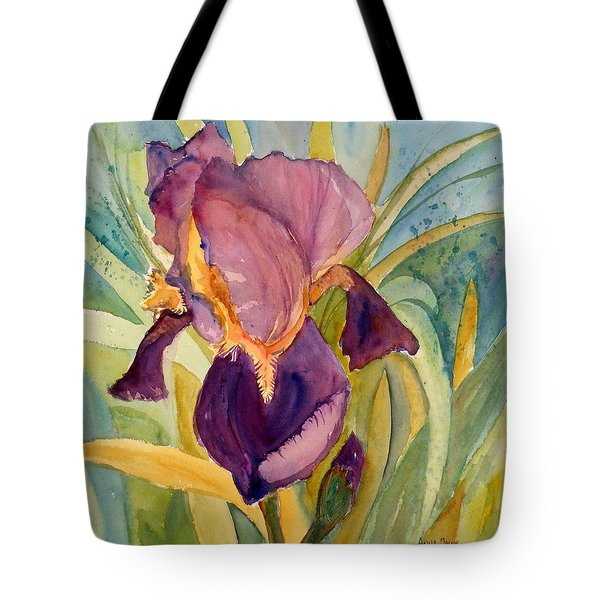 Iris Bloom Tote Bag