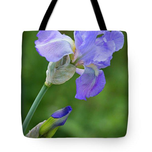 Iris Blue Tote Bag
