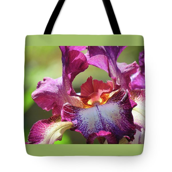 Iris Butterfly Tote Bag