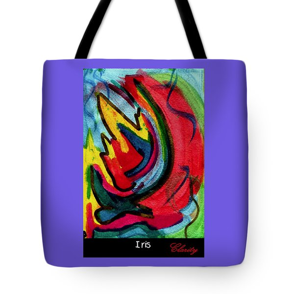 Tote Bag featuring the painting Iris by Clarity Artists