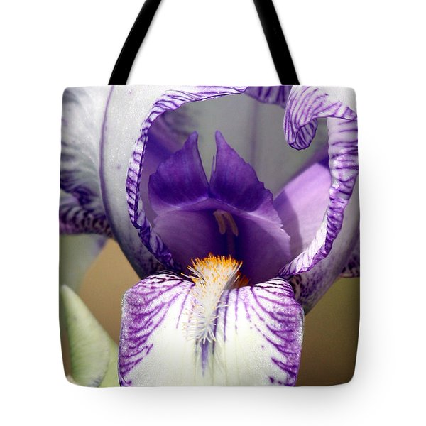 Tote Bag featuring the photograph Iris Close-up by Sheila Brown