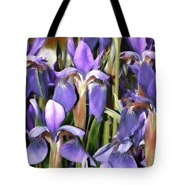 Tote Bag featuring the photograph Iris Fantasy by Benanne Stiens