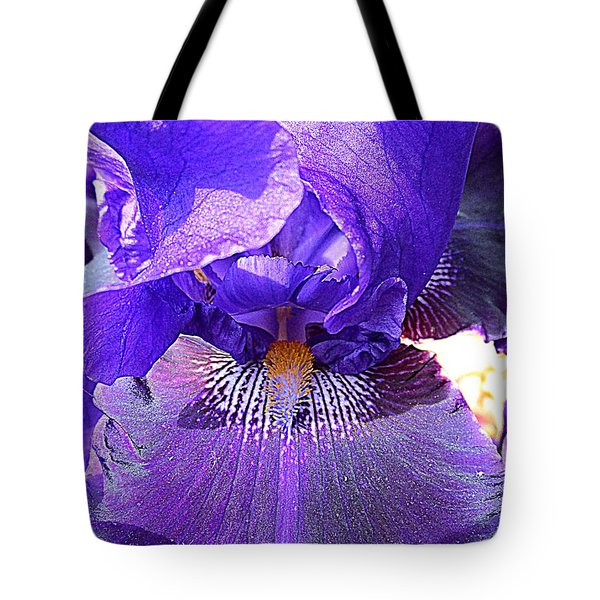 Iris Garden 16 Tote Bag by Randall Weidner