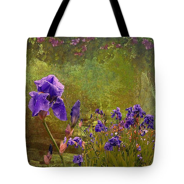 Iris Garden Tote Bag by Jeff Burgess