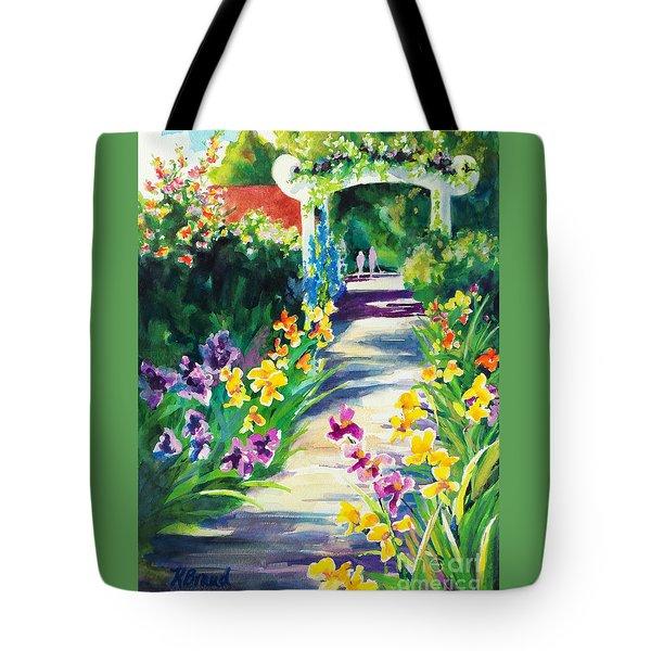 Iris Garden Walkway   Tote Bag
