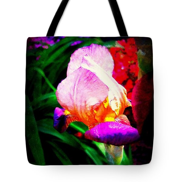 Iris Glow Tote Bag by Janine Riley