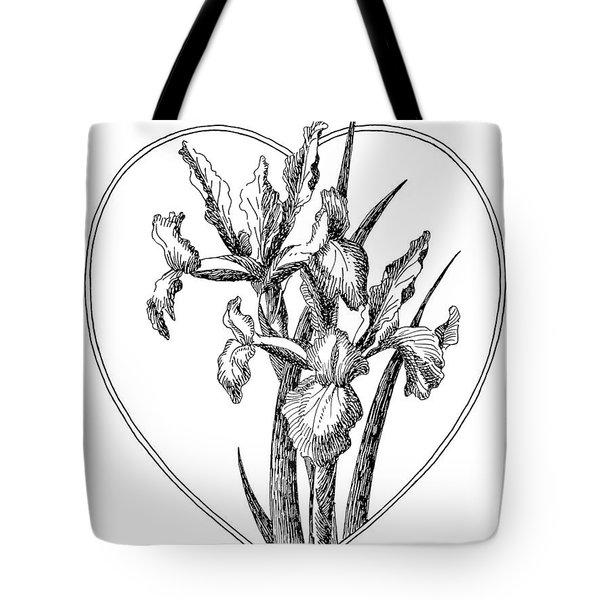 Iris Heart Drawing 3 Tote Bag