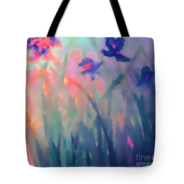 Tote Bag featuring the painting Iris by Holly Martinson