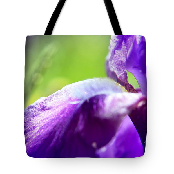 Iris In Moscows Garden Tote Bag