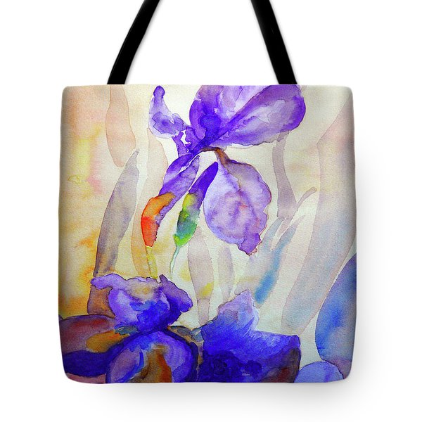 Tote Bag featuring the painting Iris by Jasna Dragun