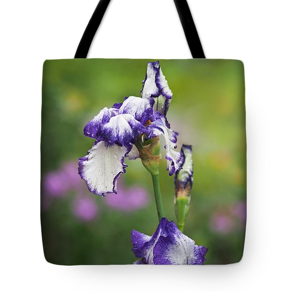 Tote Bag featuring the photograph Iris Loop The Loop  by Rona Black