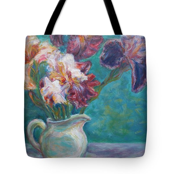 Iris Medley - Original Impressionist Painting Tote Bag by Quin Sweetman