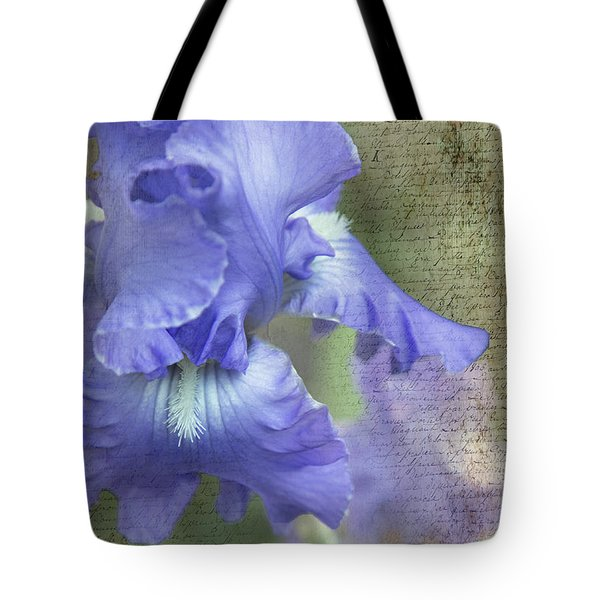 Tote Bag featuring the photograph Iris Memories by Angie Vogel