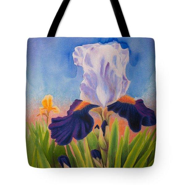 Iris Morning Tote Bag