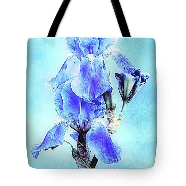 Iris Pair In Blue Tote Bag