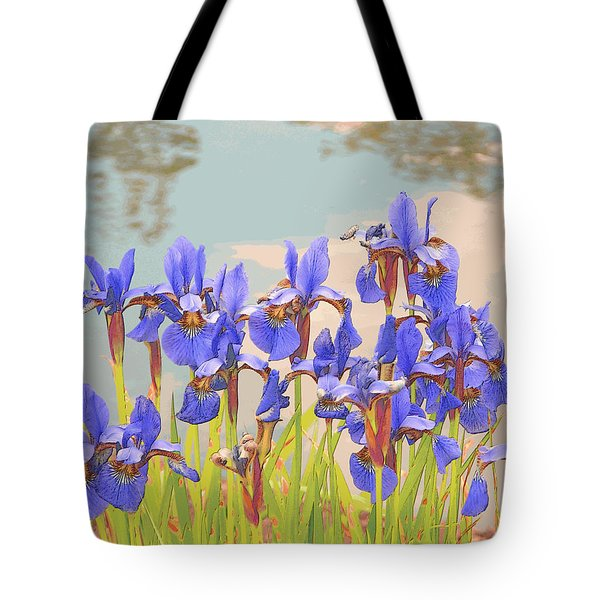 Iris Pondside 39m Tote Bag