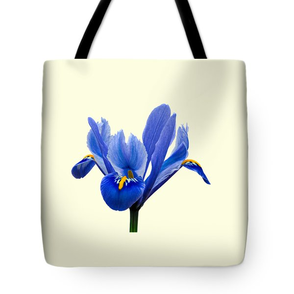 Iris Recticulata Transparent Background Tote Bag