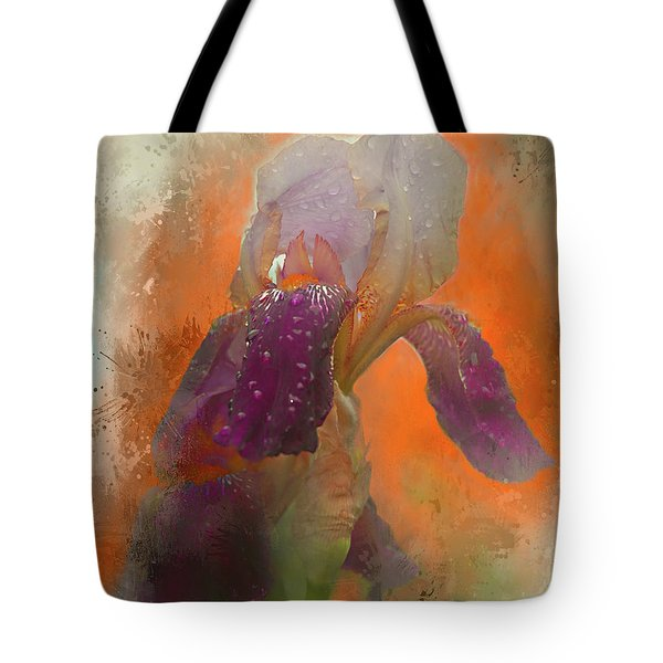 Tote Bag featuring the digital art Iris Resubmit by Jeff Burgess