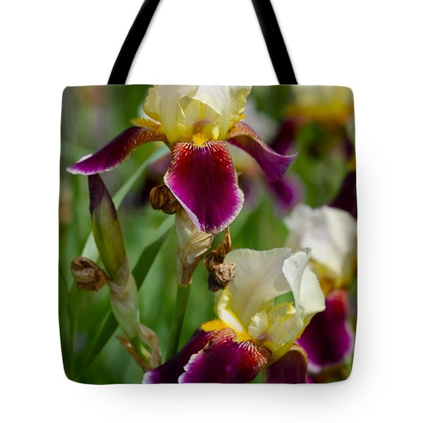 Iris Spring Tote Bag by Karon Melillo DeVega