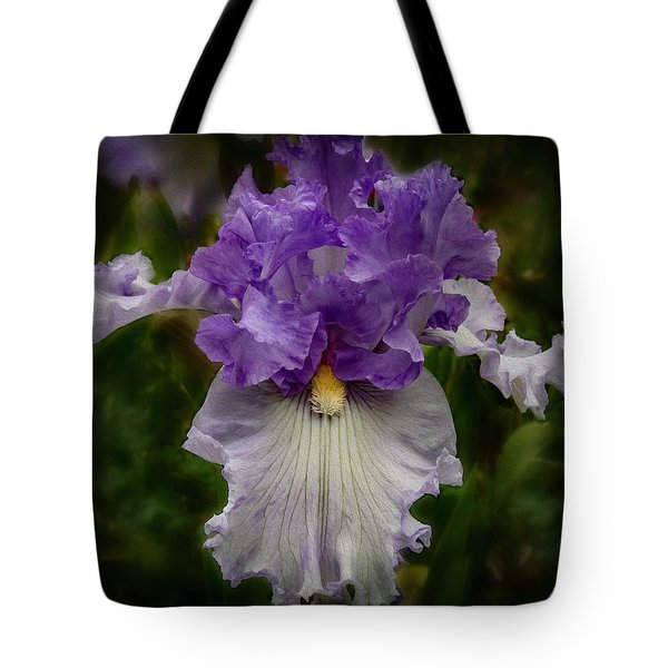Tote Bag featuring the photograph Iris Standout by Jean Noren